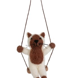 Cat on a Swing Ornament