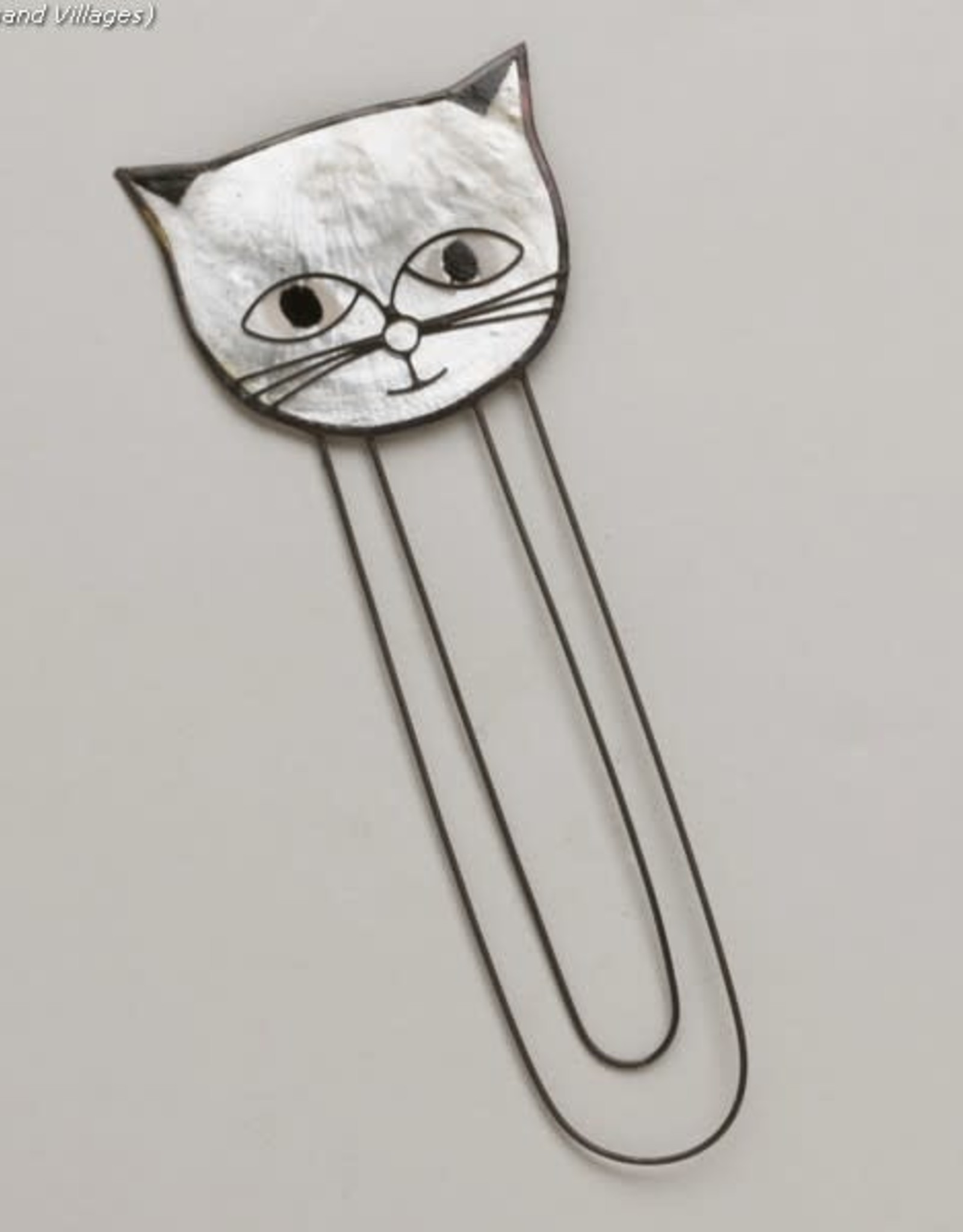 Capiz Cat Bookmark