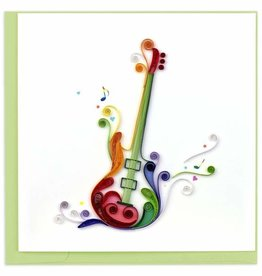 Quilling Card Quilled Electric Guitar Greeting Card
