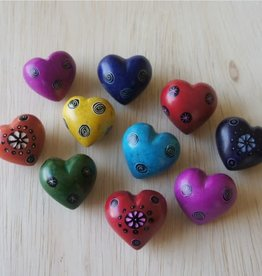 """Venture Imports Assorted Carved Stone Heart - 1"""""""