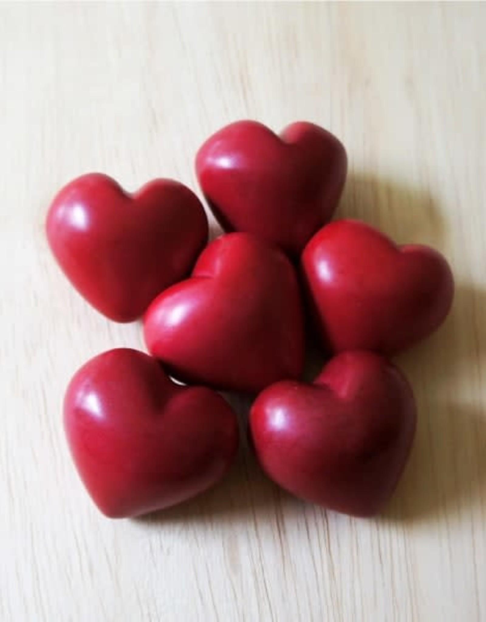 Venture Imports BOX Red Hearts - Plain