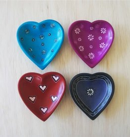 Venture Imports Pattern Heart Dishes