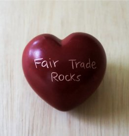 Venture Imports Large Word Heart Paperweights - Fair Trade Rocks