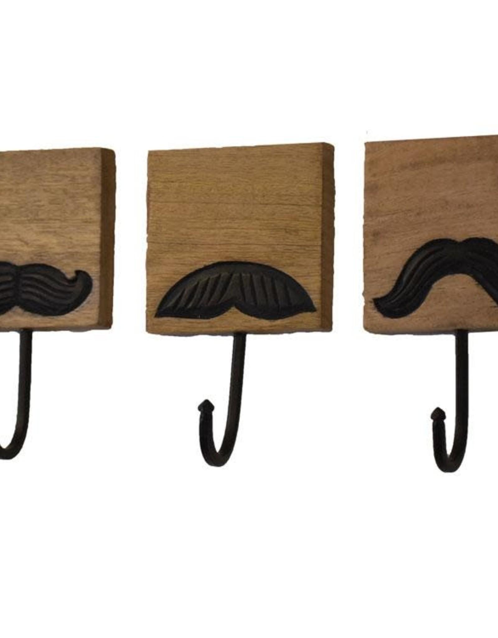 Mira Fair Trade BOX Mustache Hooks