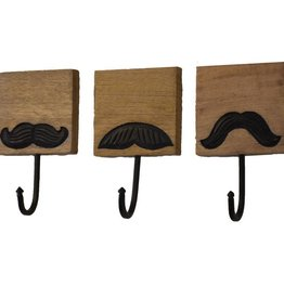 Mira Fair Trade BOX Mustache Hooks