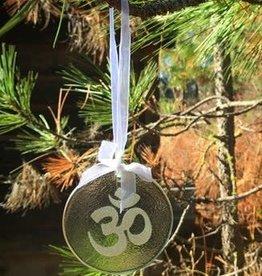 Ganesh Himal Glass OM Ornament
