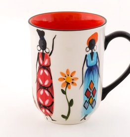 Thumbprint Artifacts African Ladies Ceramic Mug