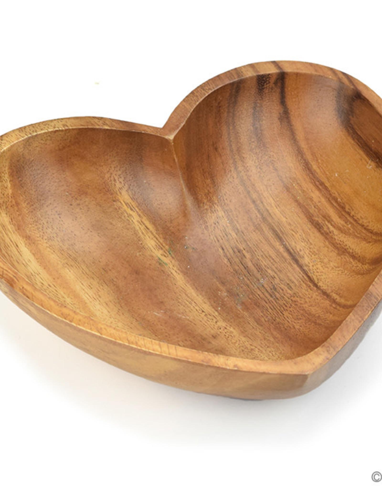 Serrv Acacia Heart Bowl
