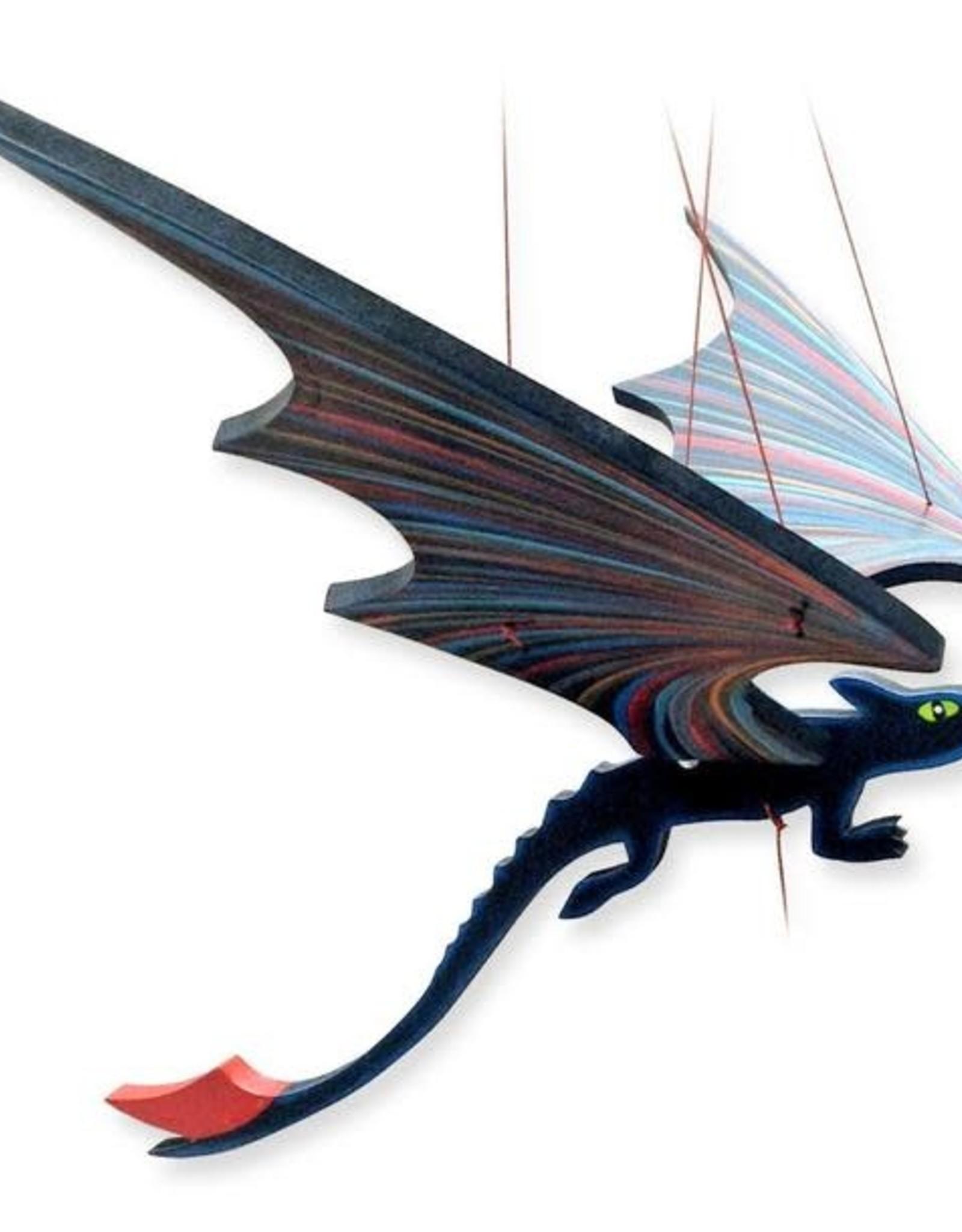 Tulia Artisans Black Dragon Flying Mobile