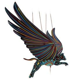 Tulia Artisans Cat Alebrije Flying Mobile