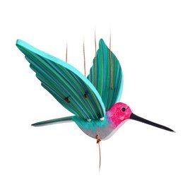 Tulia Artisans Hummingbird Flying Mobile - PINK (Anna's)