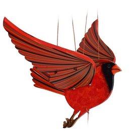 Tulia Artisans Cardinal Bird Flying Mobile