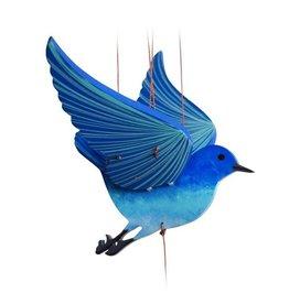 Tulia Artisans Blue Bird of Happiness Flying Mobile