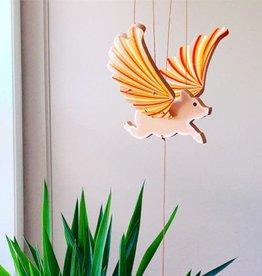Tulia Artisans Flying Pig Mobile
