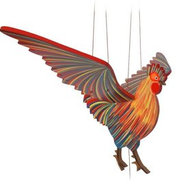 Tulia Artisans Chicken Rooster Flying Mobile