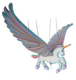 Tulia Artisans Unicorn Alicorn Flying Mobile - Blue