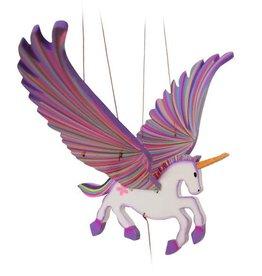 Tulia Artisans Unicorn Alicorn Flying Mobile - Purple