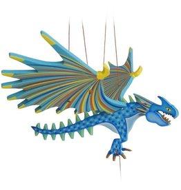 Tulia Artisans Dragon Spike Flying Mobile - Blue