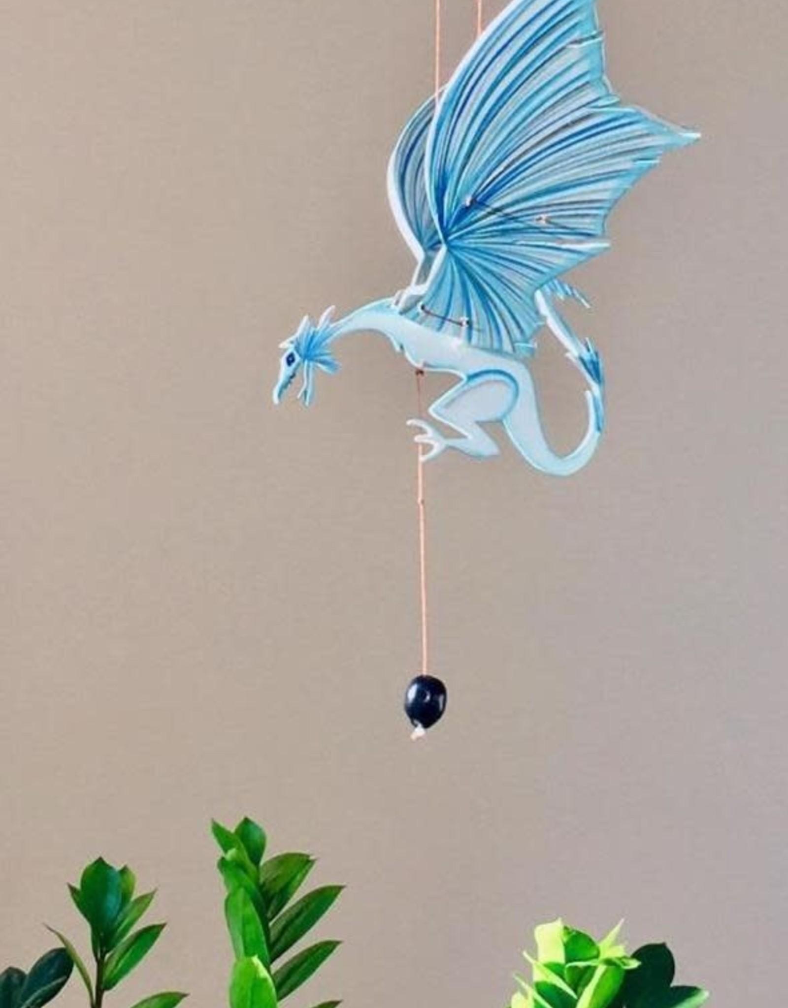 Tulia Artisans Ice Dragon Flying Mobile