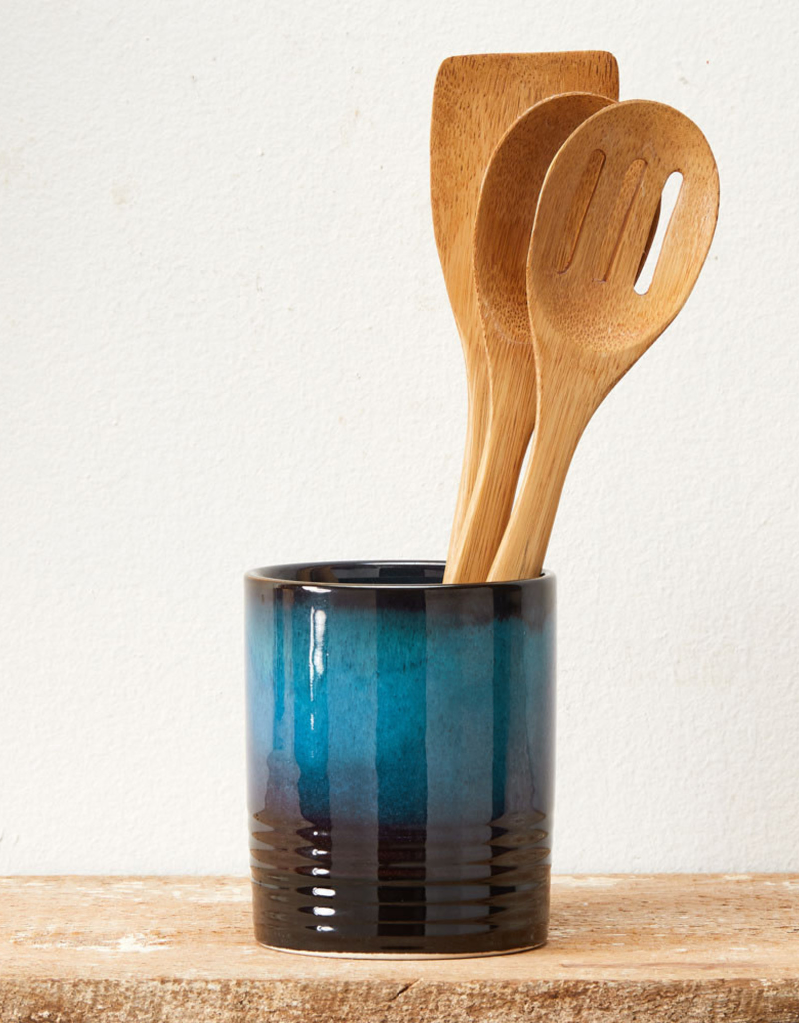Serrv Bamboo Slotted Spoon