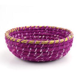 Serrv Round Fuchsia Chindi Basket