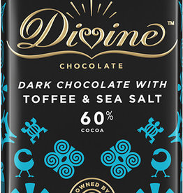 Divine Chocolate Dark Chocolate with Toffee and Sea Salt