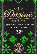 Divine Chocolate 70% Dark Chocolate with Mint Crisp