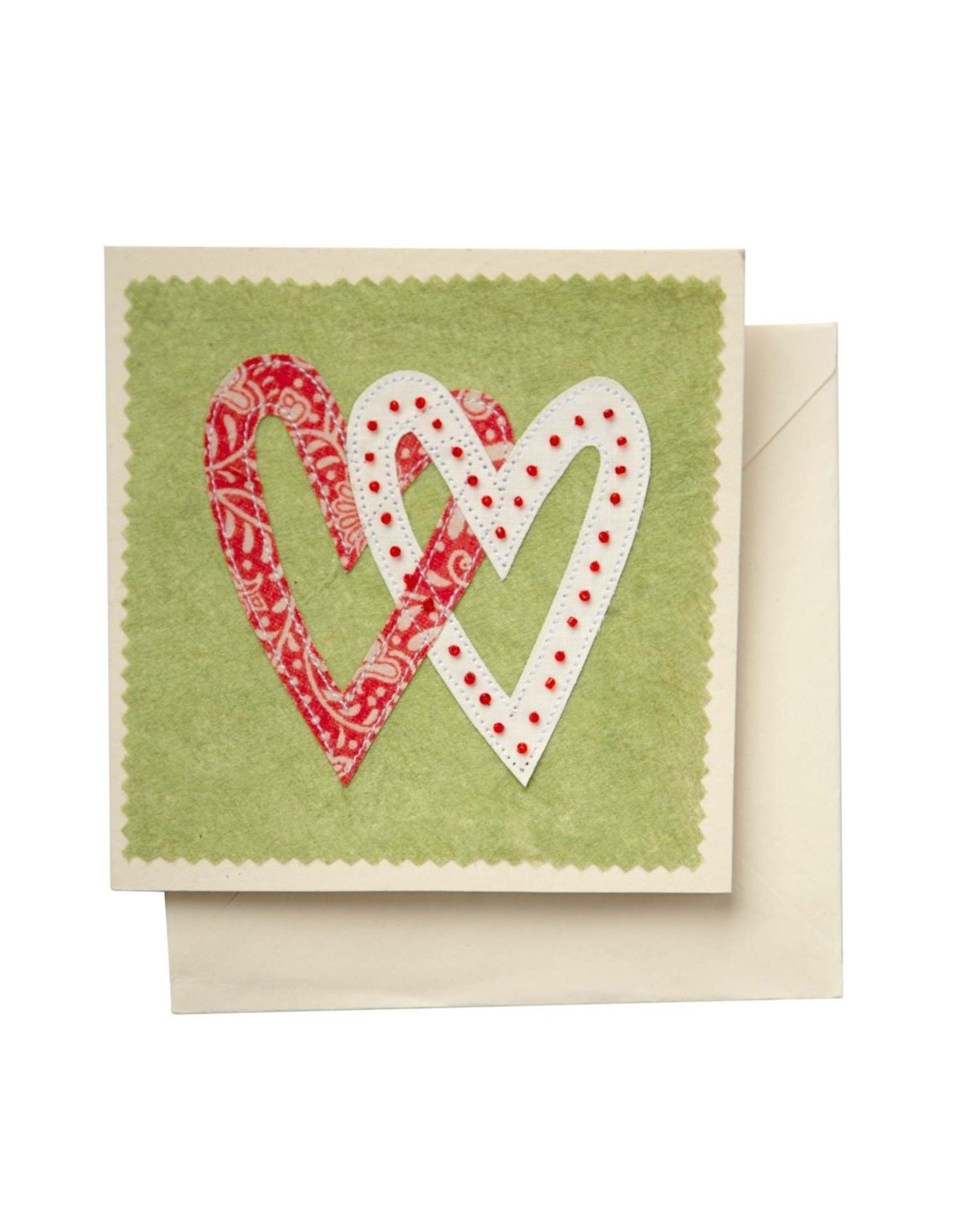 Ten Thousand Villages Linked Hearts Greeting Card