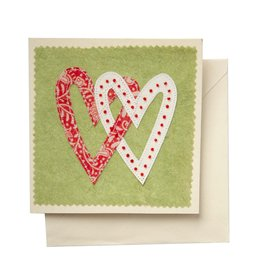Linked Hearts Greeting Card