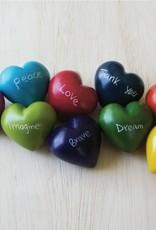 Venture Imports Word Hearts - Hope, Orange
