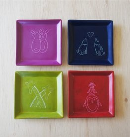 Venture Imports Square Animal Dishes - Penguin