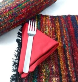 Recycled Silk Placemat - Black