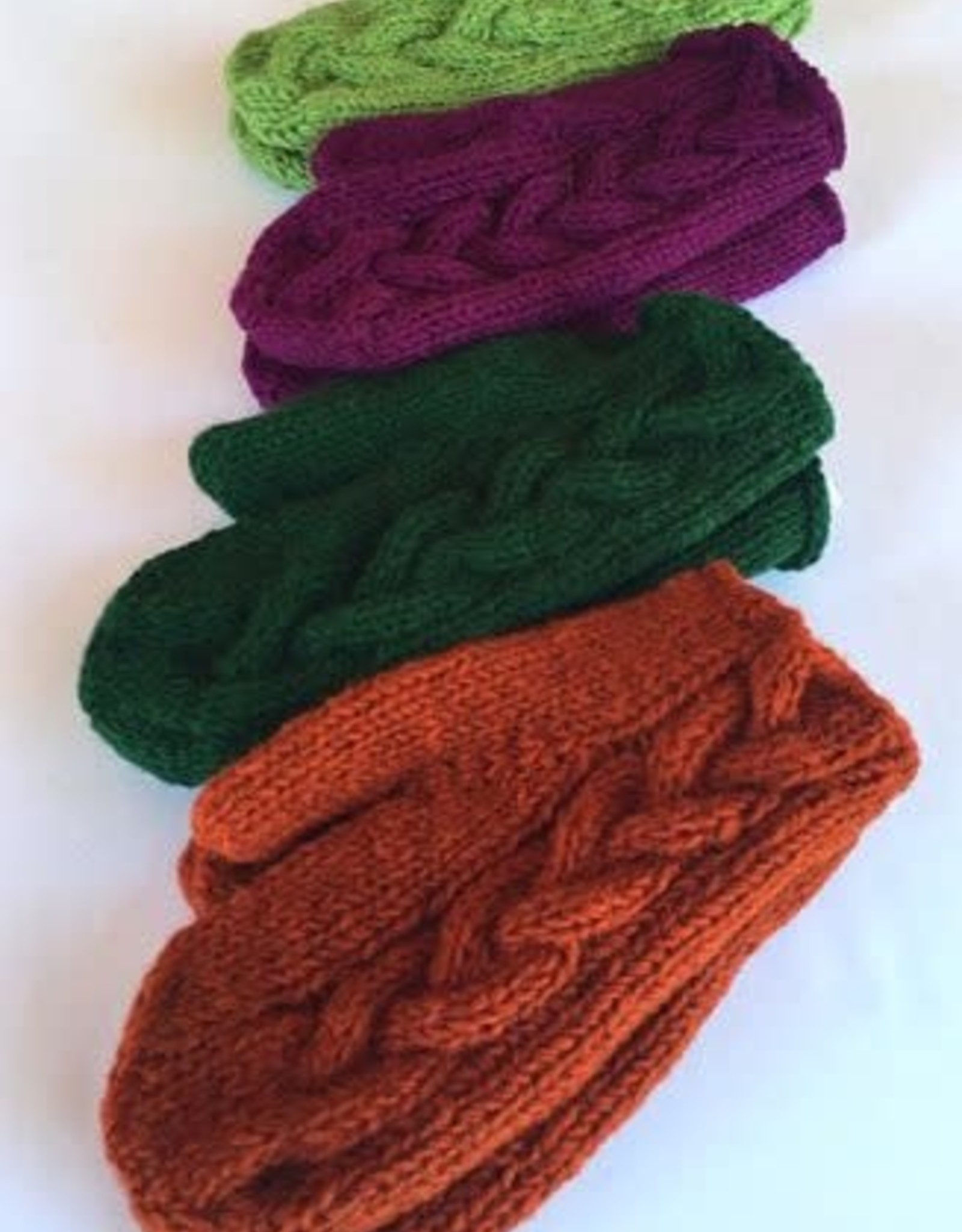 Cable Knit Mitten
