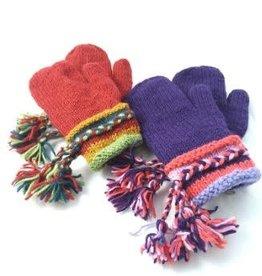 Ganesh Himal Tasseled Knit Mittens