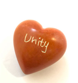 Venture Imports Word Hearts - Unity, Orange