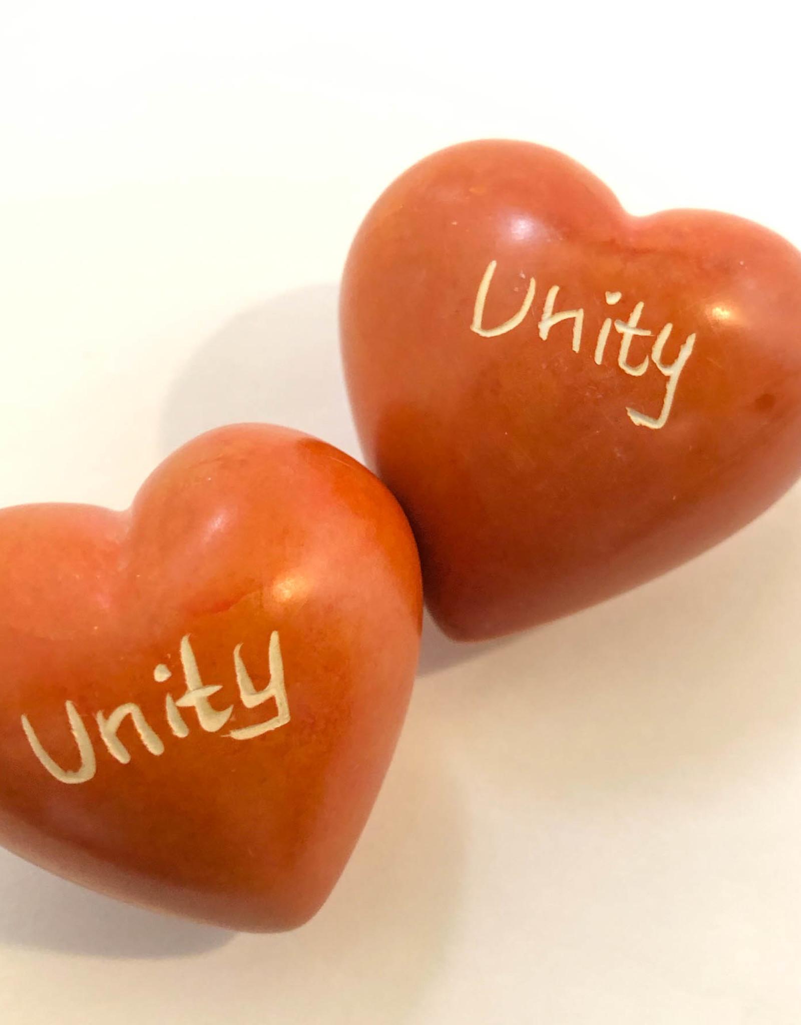 Venture Imports Word Hearts - Unity, Orange