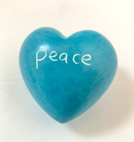 Venture Imports Word Hearts - Peace, Pale Blue