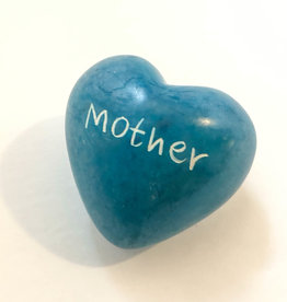 Venture Imports Word Hearts - Mother, Pale Blue