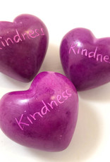 Venture Imports Word Hearts - Kindness, Pink