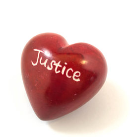 Venture Imports Word Hearts - Justice, Red
