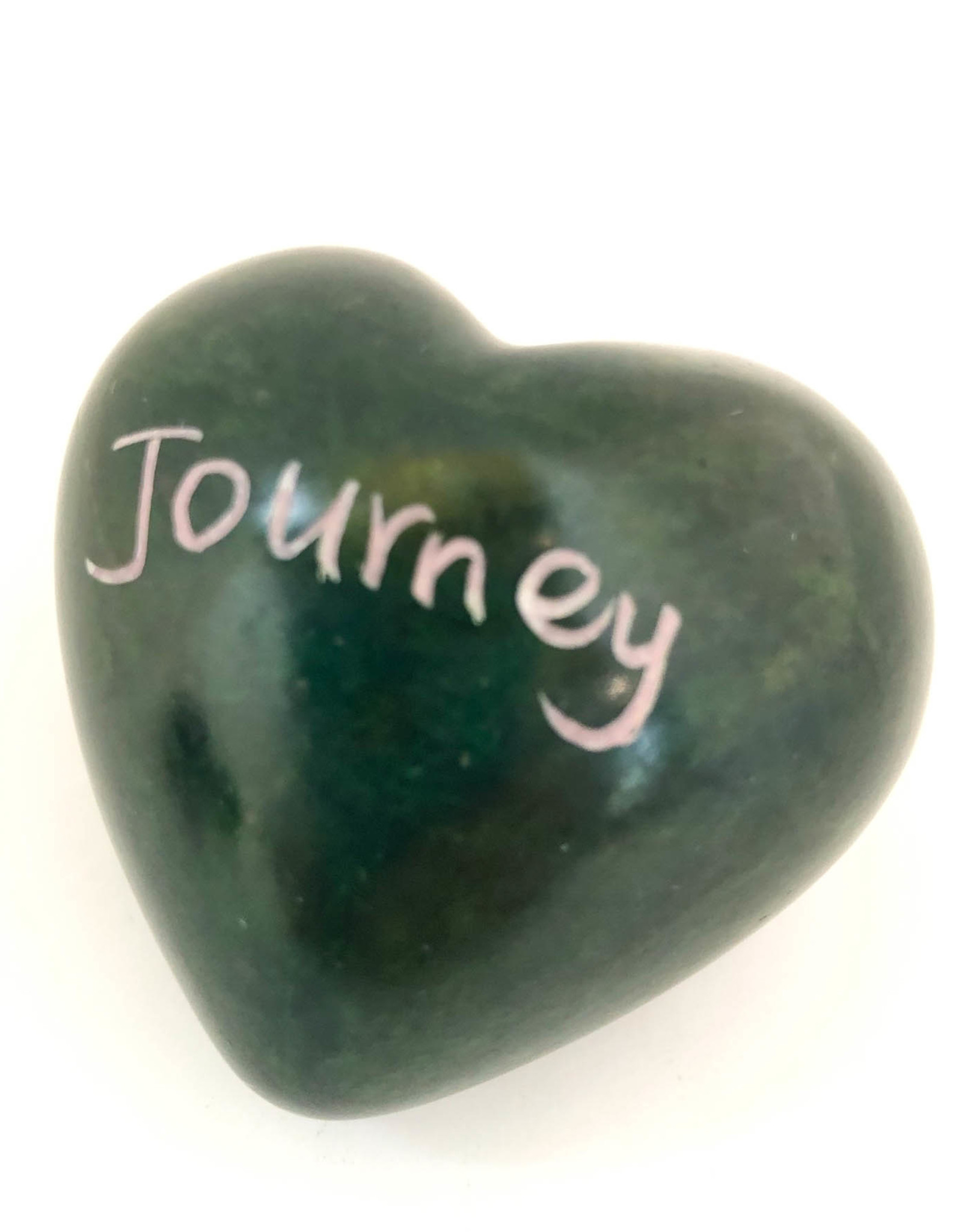 Venture Imports Word Hearts - Journey, Green