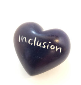 Venture Imports Word Hearts - Inclusion, Purple