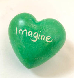 Venture Imports Word Hearts - Imagine, Lime Green