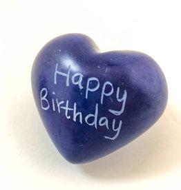 Venture Imports Word Hearts - Happy Birthday, Blue