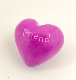 Venture Imports Word Hearts - Friend, Pink