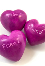 Venture Imports Word Hearts - Friend, Pink single