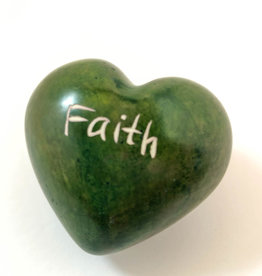 Venture Imports Word Hearts - Faith, Green