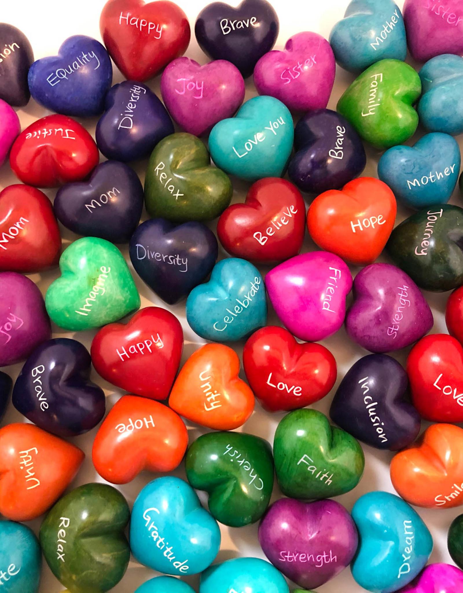Venture Imports Word Hearts - Faith, Green
