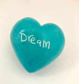 Venture Imports Word Hearts Dream, Pale Blue