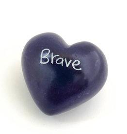Venture Imports Word Hearts - Brave, Purple